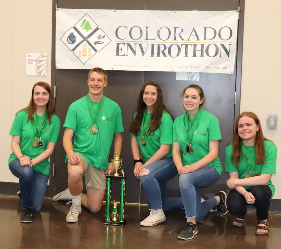 Picture2018: Woodland Park High School Team Winners Danielle Moreno, Arity Jane Sherwood, Cameron Billings-Vella Adalee Marie Smith-Simmons and Addison Swaney